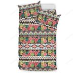 Hawaii Hibiscus Ethnic Mix Tropical Flower  Bedding Set J71