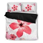 Hawaii Bedding Set, Hibiscus Duvet Cover And Pillow Case A0
