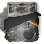 Science Ficition City Buildings Up Down 5q Bedding Set ( Duvet Cover And Pillowcase)