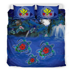 Hawaiian Kanaka Bedding Set - Turtle Hibiscus Sweet Night A18