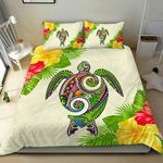 Polynesian Bedding Set - Hawaii Duvet Cover Set Turtle Colorful - Bn39