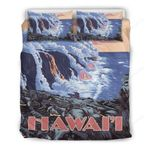 Hawaii Bedding Set, Honolulu Volcano Duvet Cover And Pillow Case Th7