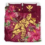 Kanaka Maoli (hawaii) Bedding Set - Turtle Hibiscus Polynesian A10
