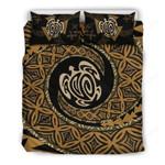 Hawaii Bedding Set, Tapa Honu Turtle Duvet Cover And Pillow Case K5