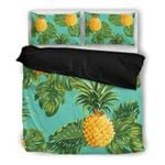 Hawaii Pineapple Bedding Set, Palm Leaf Duvet Cover And Pillow Case