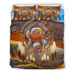 Native American Bedding Set Dreamcatcher Eagle J1