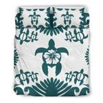 Hawaii Turtle Bedding Set, Honu Hibiscus Duvet Cover And Pillow Case K5