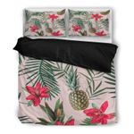 Hawaii Pineapple Bedding Set, Tropical Duvet Cover And Pillow Case Q1
