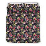 Hawaii Tropical Bedding Set, Parrot Duvet Cover And Pillow Case J7