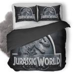 Jurassic World 2015 Logo Duvet Cover Bedding Set