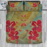 Hawaii Bedding Set, Hibiscus Duvet Cover And Pillow Case H4