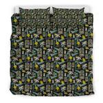 Hawaii Tropical Bedding Set, Tiki Head Duvet Cover And Pillow Case Th7