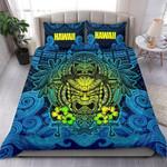 Polynesian Hawaii Bedding Set - Hawaiian Tiki (blue) - Bn15