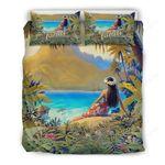 Hawaii Tropical Bedding Set, Tahiti Island Duvet Cover And Pillow Case K5