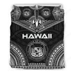Hawaii Bedding Set, Black Polynesian Tribal Tattoo Chief Duvet Cover Bn10