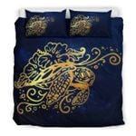 Hawaii Turtle Bedding Set, Honu Hibiscus Duvet Cover And Pillow Case Bn04