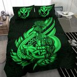 Polynesian Bedding Set - Hawaii Duvet Cover Set Father And Son Green - Bn39