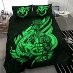 Polynesian Bedding Set - Hawaii Duvet Cover Set Father And Son Green - Bn39
