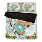 Hawaii Bedding Set, Hibiscus Duvet Cover And Pillow Case Ha6