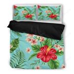 Hawaii Bedding Set, Tropical Duvet Cover And Pillow Case Q1