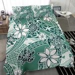 Polynesian Duvet Cover Set - Turtle Duvet Cover Set Green - Bn11