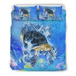 Hawaii Turtle Bedding Set, Honu Duvet Cover And Pillow Case H4