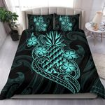 Polynesian Duvet Cover Set - Blue Pineapple - Bn12