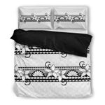 Hawaii Tribal Bedding Set, Hibiscus Duvet Cover And Pillow Case K5