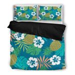Hawaii Pineapple Bedding Set, Tropical Duvet Cover And Pillow Case H4