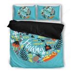 Hawaii Island Map Bedding Set, Aloha Duvet Cover And Pillow Case  K5