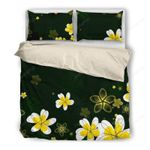 Hawaii Bedding Set, Plumeria Duvet Cover And Pillow Case H4