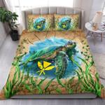 Hawaii Kanaka Maoli Bedding Set Sea Turtle Vintage K4