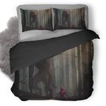 Little Red Riding Hood Vs Werewolves Fairy Tale Artwork 1p Bedding Set ( Duvet Cover And Pillowcase)