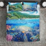 Hawaii Bedding Set, Tropical Island Duvet Cover And Pillow Case J8