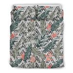 Hawaii Bedding Set, Tropical Duvet Cover And Pillow Case J7