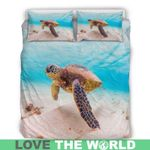 Hawaii Bedding Set, Turtle Beach Duvet Cover And Pillow Cover H4