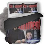 Rey Kylo Ren Star Wars The Last Jedi In Entertainment Weekly Magazine Duvet Cover Bedding Set