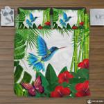 Hawaii Tropical Bedding Set, Hummingbird Duvet Cover And Pillow Case K5