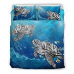 Hawaii Turtle Bedding Set, Humuhumunukunukuapua'a Duvet Cover And Pillow Case H4