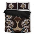 Hawaii Bedding Set, Polynesian Turtle Duvet Cover And Pillow Case Ha6