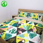 Hawaii Bedding Set, Flamingo Tropical Duvet Cover And Pillow Cover Bn04