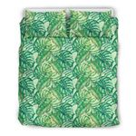 Hawaii Bedding Set, Tropical Leaf Duvet Cover And Pillow Case J7