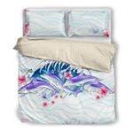 Hawaii Dolphin Bedding Set, Hibiscus Duvet Cover And Pillow Case H4