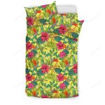 Hawaii Tropical Leaves And Flowers  Bedding Set J71