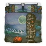 Hawaii Bedding Set, Tiki God Duvet Cover And Pillow Case Bn