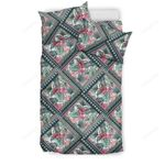 Hawaii Exotic Tropical Flowers In Pastel Colors  Bedding Set J71