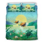 Hawaii Turtle Bedding Set, Humuhumunukunukuapua'a Duvet Cover And Pillow Case K5