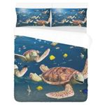 Hawaii Turtle Bedding Set, Honu Duvet Cover And Pillow Case N1