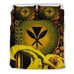 Kanaka Maoli Bedding Set - Hibiscus And Wave Special Yellow K7