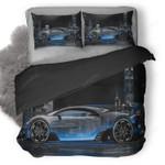 Bugatti Vision Gran Turismo Side Crystal City Night Car duvet Cover Bedding Set Dup